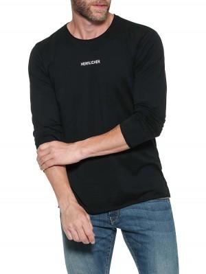 Herrlicher Jake Langarmshirt mit Logo-Statement aus Supima®-Baumwolle