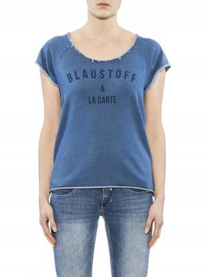 Herrlicher Bellina Sweat Shirt blau vorne