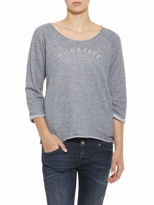 Herrlicher Benice Sweatshirt mit Stickerei