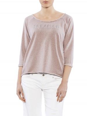 Herrlicher Benice Sweatshirt rosa vorne