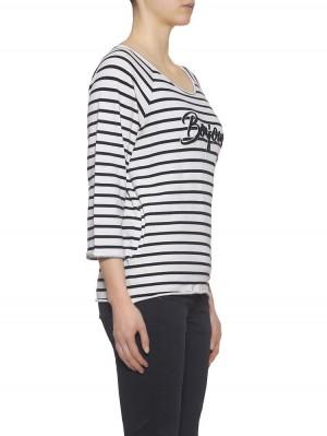 Herrlicher Benice Sweatshirt gestreift mit Print