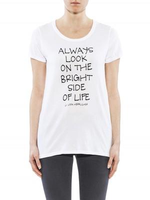 Herrlicher Layla Jersey T-Shirt weiß