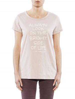Herrlicher Layla Jersey T-Shirt rosa vorne