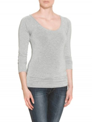 Herrlicher Valencia Lurex Jersey Shirt silber