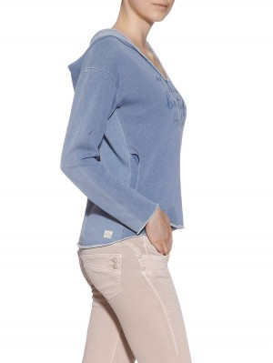 Herrlicher Sonja Kapuzen-Sweatshirt mit Print