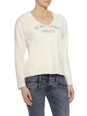Herrlicher Sonja Kapuzen-Sweatshirt mit Print vorne