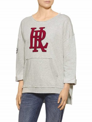 Herrlicher Rosa Damen Sweatshirt offwhite melange
