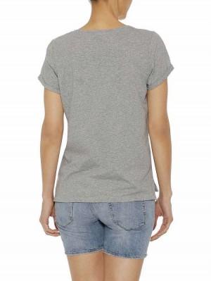 Herrlicher Kendall Jersey T-Shirt mit Statement Print