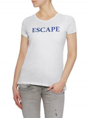 Herrlicher Kendall Jersey Shirt mit Print, light beige, vorne nahe