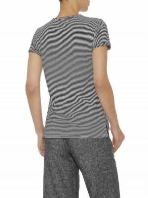 Herrlicher Kendall Jersey T-Shirt mit Statement Print gestreift