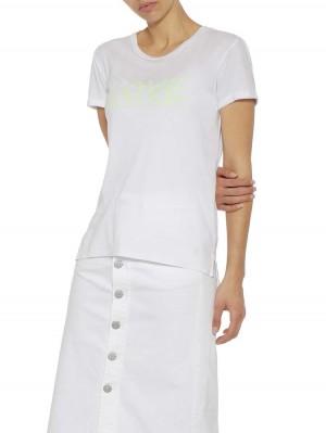 """Herrlicher Kendall Jersey T-Shirt mit """"Love"""" Neonprint"""