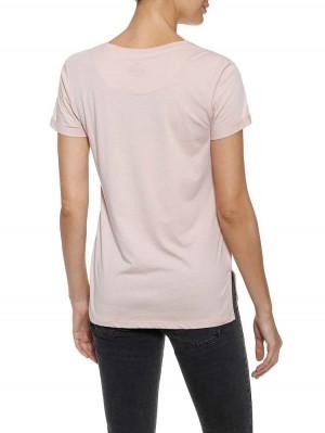 Herrlicher Kendall Jersey T-Shirt mit Nieten-Schriftzug