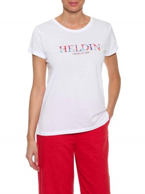 Herrlicher Kendall Jersey T-Shirt mit Print