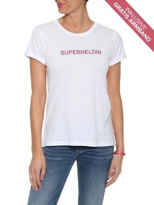 """Herrlicher Kendall T-Shirt """"Superheldin"""" mit Gratis Armband"""