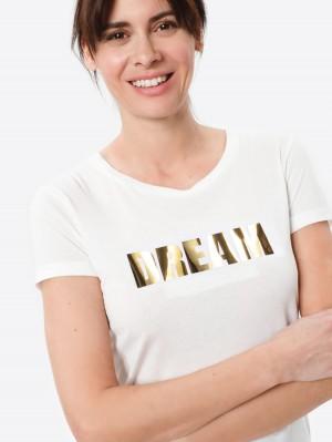 Herrlicher Kendall T-Shirt mit goldenem Print