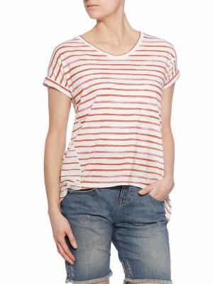 Herrlicher Ela Jersey Striped Shirt