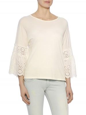 Lauren Jersey Shirt, weiß vorne