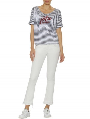 Herrlicher Jorlin Flame Jersey T-Shirt gestreift