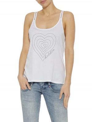 Moni Jersey Top mit Herz-Stickerei