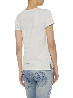 """Herrlicher Kelli Jersey T-Shirt mit """"Love"""" Applikation"""