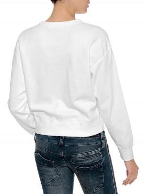 Herrlicher Carrie Sweatshirt mit Initialen-Print