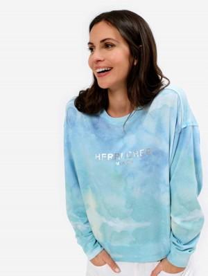 Herrlicher Carrie Sweatshirt im Batik-Look