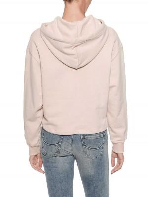 Herrlicher Haven Kapuzensweatshirt mit Metallapplikation