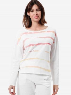 Herrlicher Belicia Sweatshirt mit Batikmuster