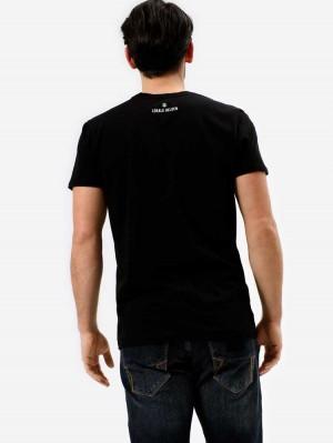 Herrlicher Base T-Shirt aus gekämmter Baumwolle mit Print