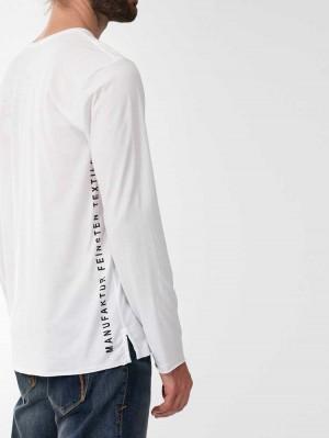 Herrlicher Jake Langarmshirt mit Logo-Statements aus Supima®-Baumwolle