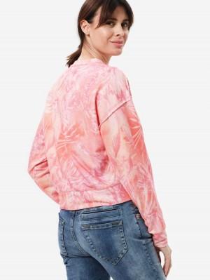 Herrlicher Carrie Sweatshirt mit Batikmuster