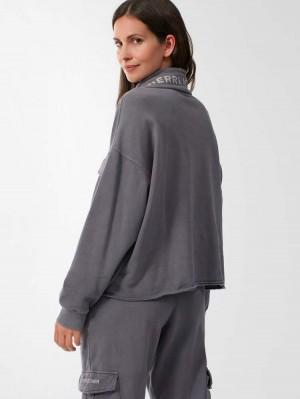Herrlicher Midori Sweatshirt mit Kragen