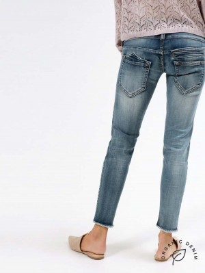 Herrlicher Pitch Slim Cropped Jeans mit Bio-Baumwolle