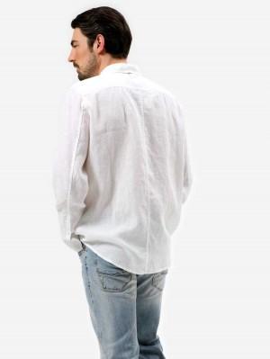 Herrlicher Holder Leinenhemd Slim Fit