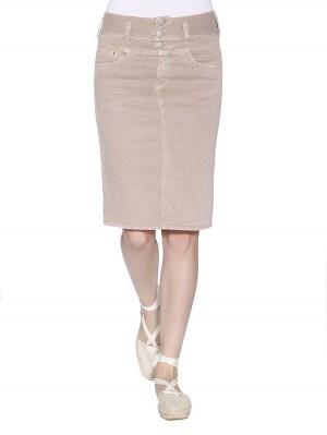 Herrlicher Raya Skirt Drill Stretch rosé vorne