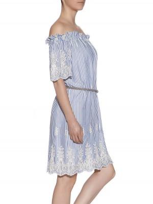 Herrlicher Clarina Kleid gestreift mit Spitze