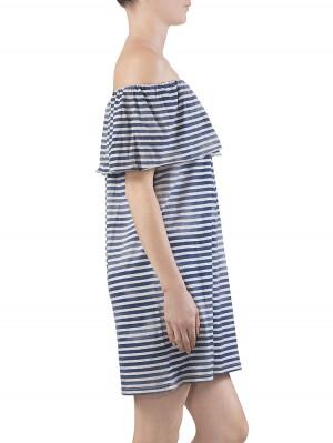 Herrlicher Yella striped Jersey Kleid