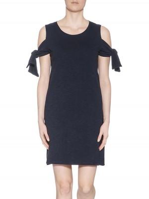 Herrlicher Sabine Flame Jersey Cut-Out-Kleid mit Knoten vorne