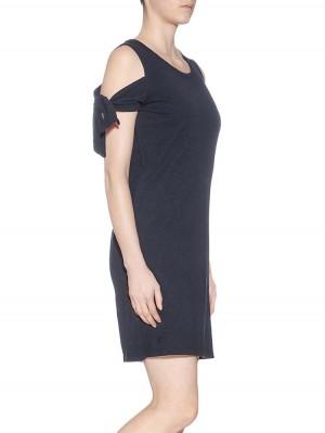 Herrlicher Sabine Flame Jersey Cut-Out-Kleid mit Knoten