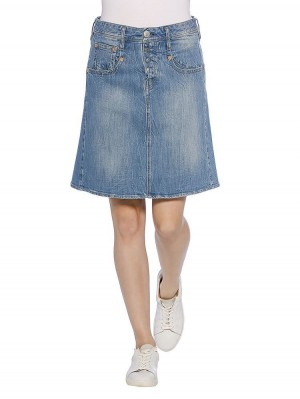 Shyra Skirt Denim Stretch Rock, light vorne