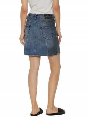 Herrlicher Shyra Jeansrock Two-in-One