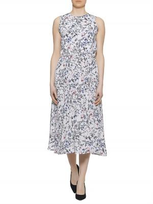 Herrlicher Kayleen Viscose printed Kleid, weiß vorne
