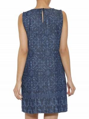 Herrlicher Fenja Lyocell Kleid mit Azulejo-Muster