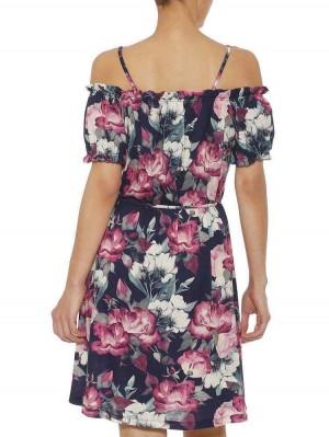 Herrlicher Octavia Jersey Carmenkleid mit Blumenmuster