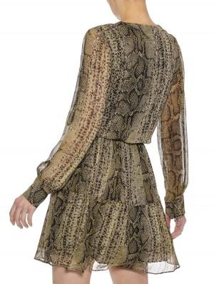Herrlicher Florence Kleid mit Schlangenmuster