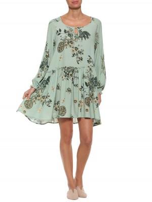 Herrlicher Florentine Kleid mit Blumenmuster
