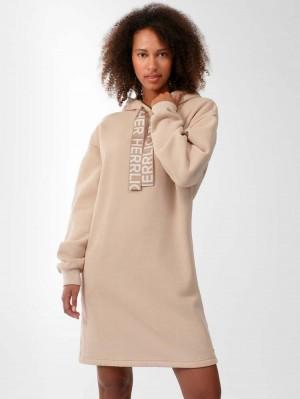 Herrlicher Blythe Hoodie-Kleid mit Herrlicher Logotape