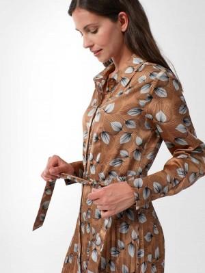 Herrlicher Annalina Hemdblusenkleid mit Print