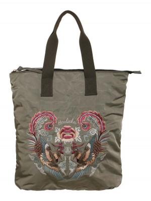 Herrlicher Satin Shopper Bag