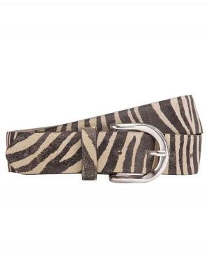 Herrlicher Abbie Wildledergürtel mit Zebramuster